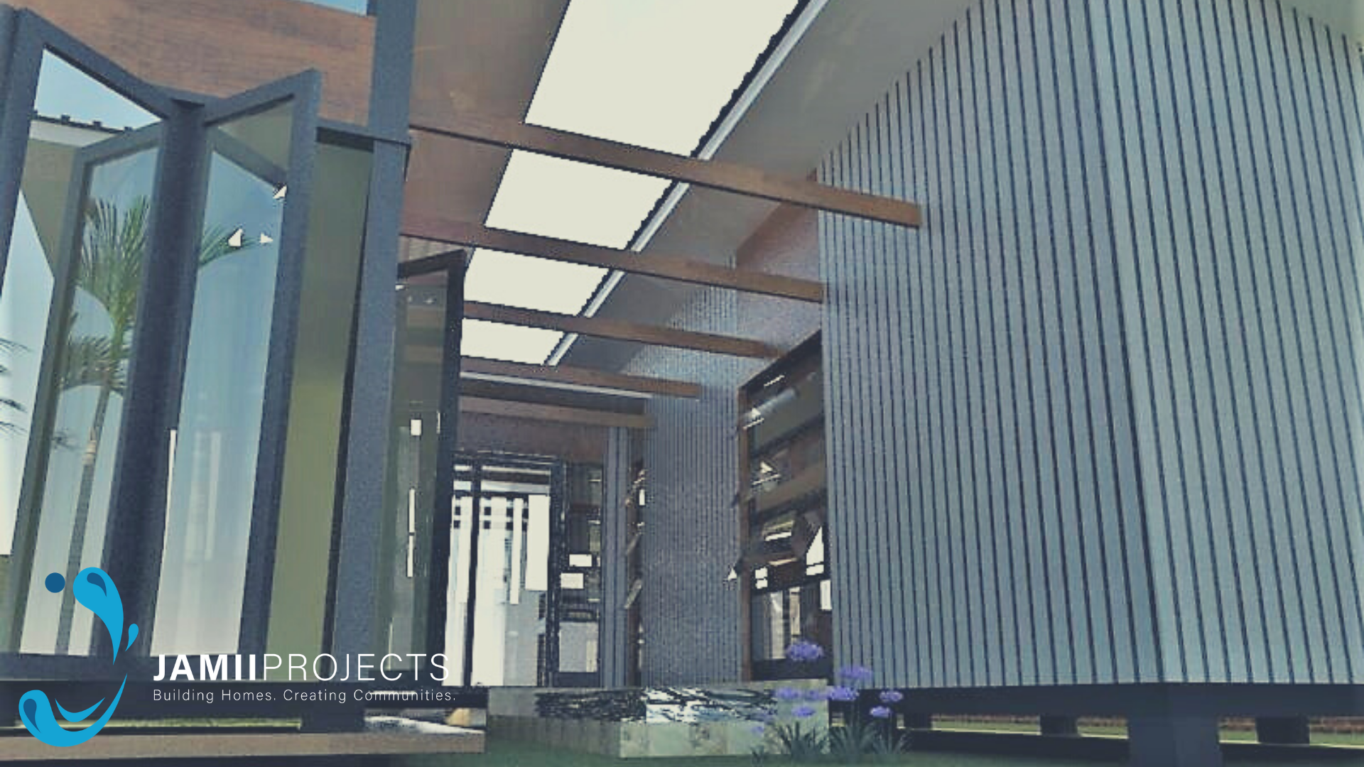 Residential unit made up of two 40ft shipping containers.